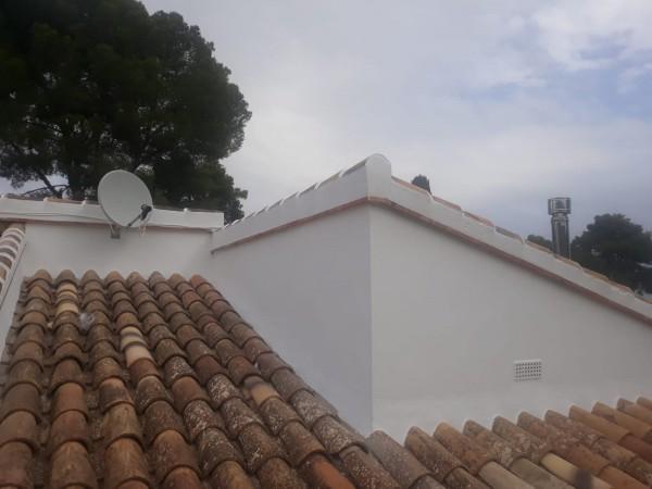 Pintura exterior tejado despues
