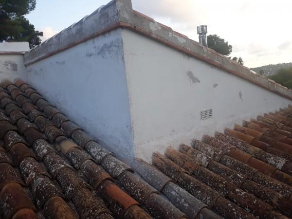 Pintura exterior tejado antes